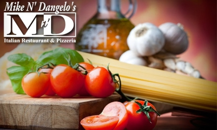 Mike N' Dangelo's Italian Restaurant - Girard: $16 for Two Large Pizzas with Up to Three Toppings and Two Liters of Pepsi at Mike 'N Dangelo's Italian Restaurant in Girard (Up to $30.51 Value)