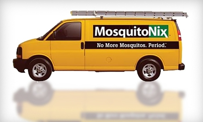 MosquitoNix - Friendswood: $49 for a QuickNix Three-Step Mosquito Treatment from MosquitoNix ($149 Value)