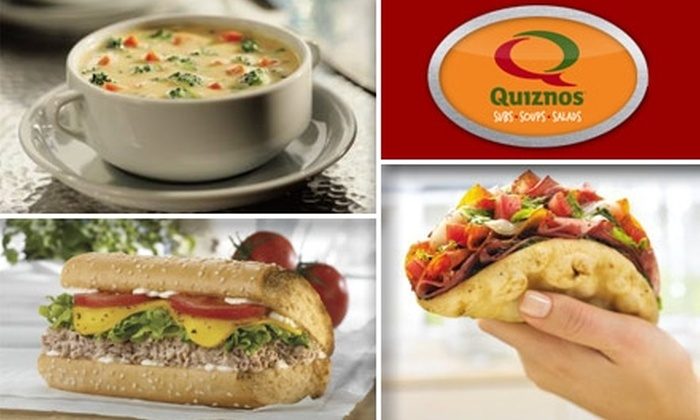 Quiznos Sub - Far North Dallas: $5 for $10 Worth of Subs and Sips at Quiznos