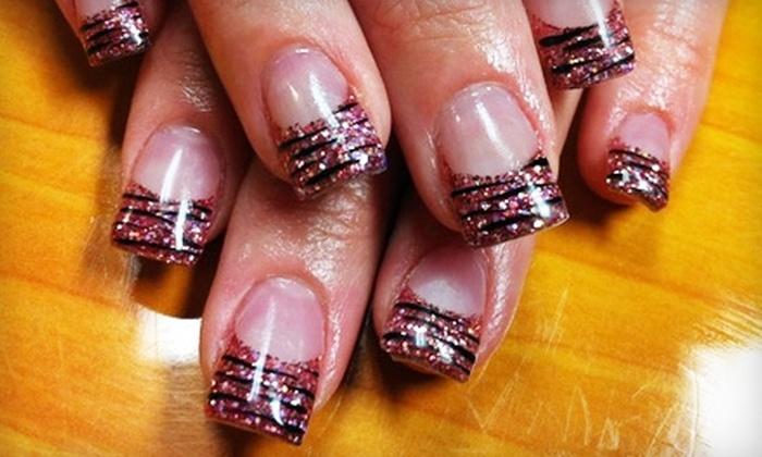 B' Polished Nail Studio - Lebanon: $25 for Full Set of Acrylic Nails ($50 Value) or $40 for Paradiso Pedicure and Gel Toes ($85 Value) at B' Polished Nail Studio
