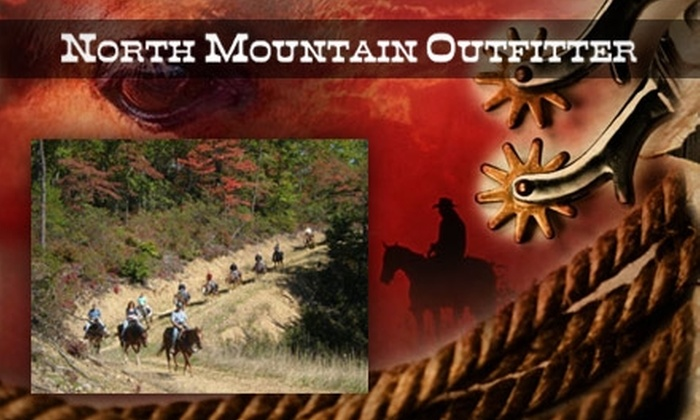 North Mountain Outfitter - Pastures: $45 for a Half-Day Horseback Ride at North Mountain Outfitter ($90 Value)