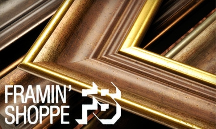 Framin' Shoppe - Multiple Locations: $45 for $100 Worth of Custom Framing at Framin' Shoppe