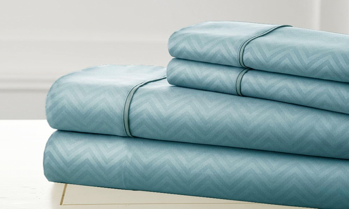 Clearance: Kensington Hotel Collection Embossed Sheet Set: Clearance: Kensington Hotel Collection Embossed Sheet Set