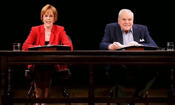 """Love Letters"" - Brooks Atkinson Theatre: ""Love Letters"" with Carol Burnett & Brian Dennehy on Broadway. Performances through November 8 (Up to 17% Off)"