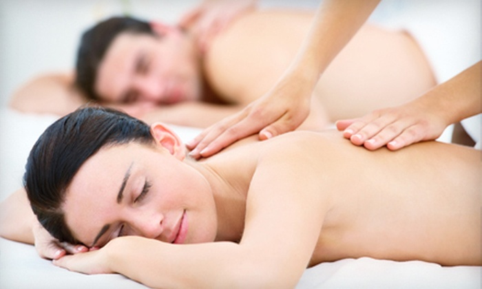 Rapunzel's Salon & Spa - Multiple Locations: One-Hour Couples Massage with Champagne or Four-Hour Couples Massage Class at Rapunzel's Salon & Spa (Up to 56% Off)
