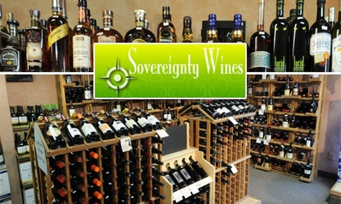 Sovereignty Wines - Central Colorado City: $12 for $25 Worth of Wine at Sovereignty Wines