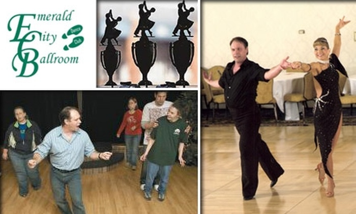 Emerald City Ballroom Dance - Dublin: $15 for Four Group Ballroom Dance Classes and One Private Lesson at Emerald City Ballroom Dance Club ($45 Value)
