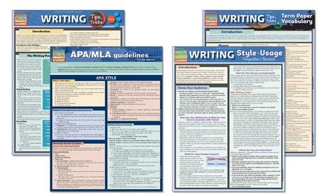 English Language and Writing Laminated Study Guides 56e32040-2b51-11e7-bca8-002590604002