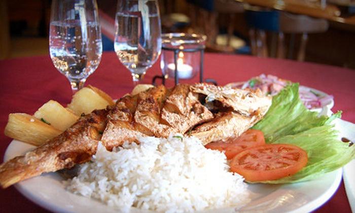 Piolyn Jr. Restaurant - East Hartford: $10 for $20 Worth of Peruvian Fare and Drinks at Piolyn Jr. Restaurant in East Hartford