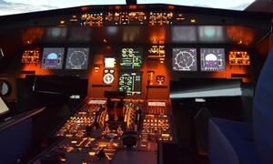 Flight sensations Cannes: Une formation de pilotage sur simulateur de vol professionnel Airbus A320 dès 99 € avec Flight Sensations Cannes