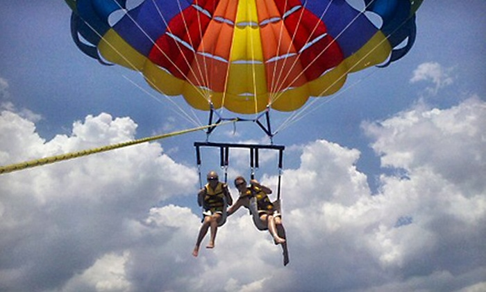 Sky High Parasailing - Hillsboro Shores: $46 for a 15-Minute Parasailing Adventure and Two Photos on a CD from Sky High Parasailing in Pompano Beach ($95.40 Value)