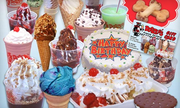 Doozle's Frozen Custard - Multiple Locations: $5 for $10 Worth of Frozen Custard at Doozle's Frozen Custard
