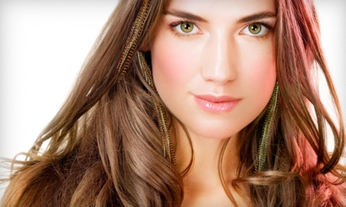 Escape Luxury Salon & Day Spa - Hollywood: $28 for Four Feather Hair Extensions at Escape Luxury Salon & Day Spa