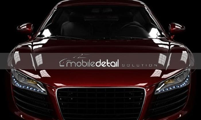 Mobile Detail Solution - Nashville: Half Off Exterior Auto Detailing from Mobile Detail Solution