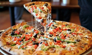BoomBozz Pizza and Tap House: Pizza, Pasta, Sandwiches, and Craft Beer at BoomBozz Pizza and Tap House (Up to 42% Off). Two Options Available.