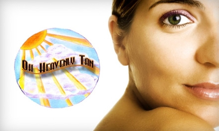 Oh Heavenly Tan - Hancock: $15 for One Level I Airbrush Tan and One Level I Stand-Up Tan at Oh Heavenly Tan