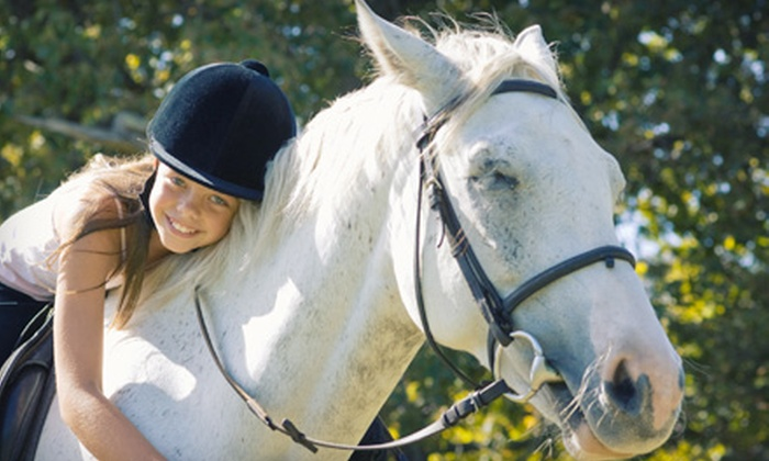 Spring Bank Equestrian Center - Elroy: 60-Minute Horseback-Riding Lesson for Two or Five-Day Camp at Spring Bank Equestrian Center in Goldsboro (Up to 59% Off)