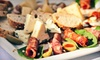 V-21 - Washington Ave./ Memorial Park: Upscale International Bar Fare or Brunch at V21 (Up to 53% Off). Three Options Available.