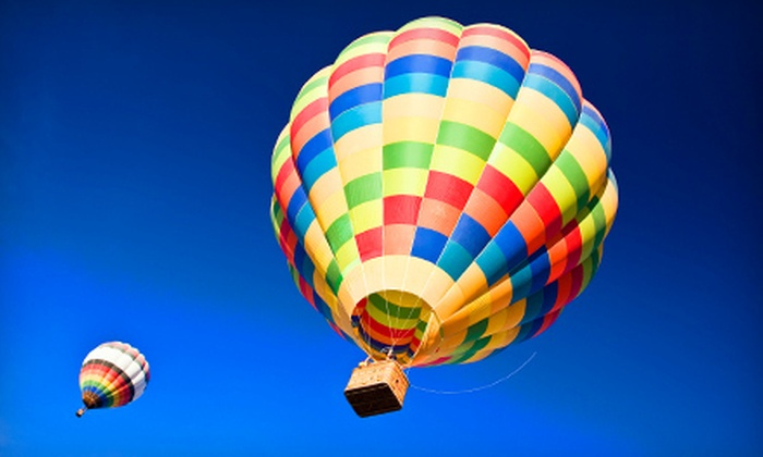 Fun Makers - Multiple Locations: $155 for a Hot-Air-Balloon Ride with a Post-Flight Champagne Toast from Fun Makers ($250 Value)