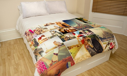 Small or Medium Custom Faux-Mink Photo Blankets (Up to 73% Off). Three Options Available.