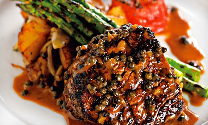 Gaslight Grill - Cornerstone Of Leawood: Dinner for Two, or Steak-House Cuisine for Dinner or Brunch at Gaslight Grill (Half Off)
