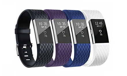 Replacement Bands for Fitbit Charge 2 in Choice of Size and Colour: One $9.95, Two $14.95 or Four $19.95