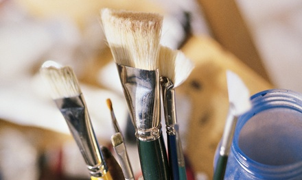 Three-Hour Painting Class for One or Two at Van Gogh and Vino (46% Off)