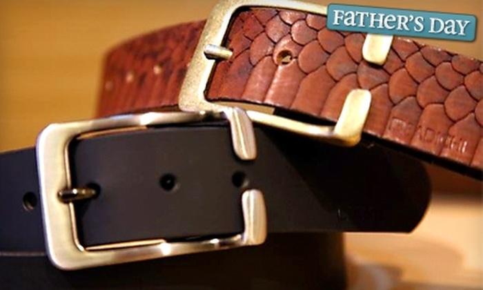 Badichi Customized Belts - Multiple Locations: $30 for $60 Toward Customized Belts at Badichi Customized Belts