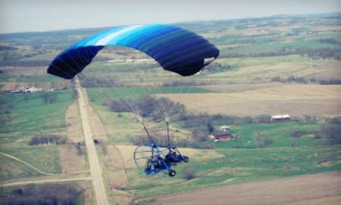 Silver Lining Aviation - Rutland: $135 for a 30-Minute, Tandem, Powered-Parachute Flight at Silver Lining Aviation in Hastings ($289 Value)