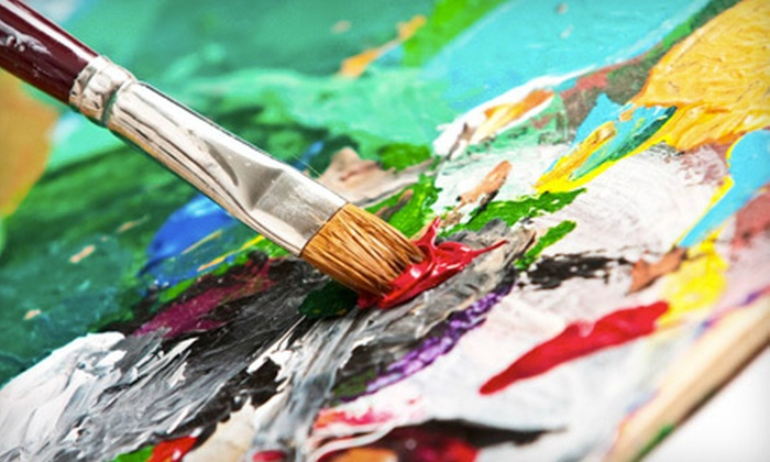 Studio AMN & Designs - Jackson: Wineglass-Painting Session for One or Two at Studio AMN & Designs (Up to 53% Off)