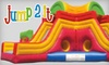 Jump 2 It - CLOSED - Peachtree City: $10 for Four Open-Jump Passes at Jump 2 It in Peachtree City ($20 Value)
