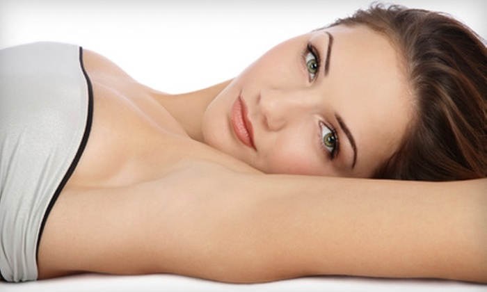 Azzuro'Terra Laser & Hair Salon - Canmore: $99 for Three Laser Hair Removal Treatments at Azzuro'Terra Laser Spa and Hair Salon in Canmore (Up to $297 Value)