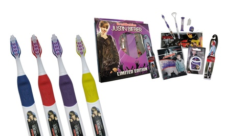 Justin Bieber Singing Toothbrushes or Ultimate Giftbox. Multiple Options Available.