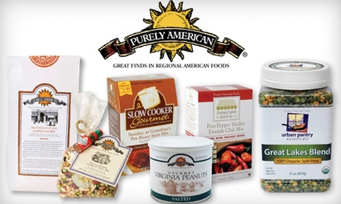 Purely American: $20 for $40 Worth of Soups, Mixes, Peanuts, and Sauces from Purely American