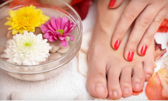 French Nails & Spa - Northeastern San Diego,Sabre Springs: $17 for a Spa Mani-Pedi or Deluxe Pedicure at French Nails & Spa in Poway (Up to $35 Value)
