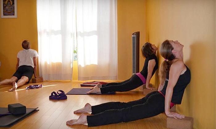 Buddha B Yoga - U Street - Cardozo: $36 for 12-Class Pass at Buddha B Yoga (Up to $156 Value)
