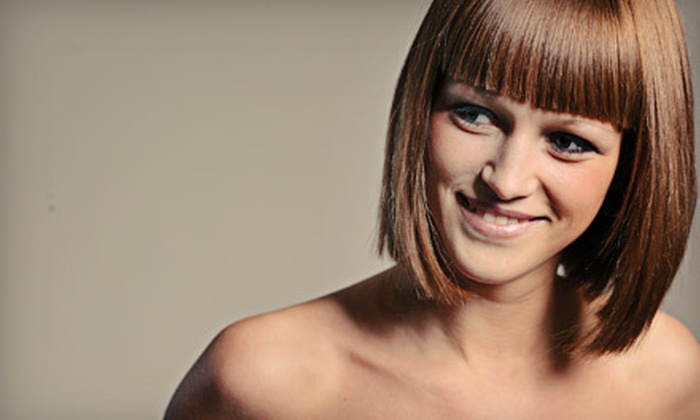 The Beauty Bar Specialty Shop - Southside: Haircut Package with Color, Highlights, or Keratin Treatment at The Beauty Bar Specialty Shop (Up to 62% Off)