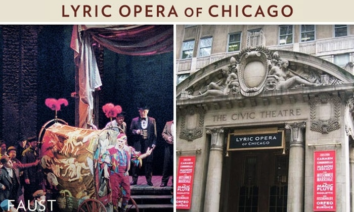Lyric Opera of Chicago - Loop: Main Floor Tickets to 'Faust' at Lyric Opera. Buy Here for $75 Tickets for 10/8, 2 p.m. See Below for Other Dates and Seating Locations