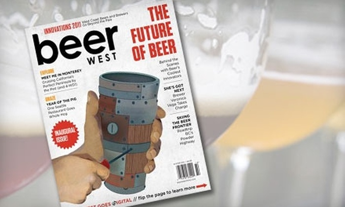 Beer West Magazine - Sunnyside - Walnut Grove: $9 for One-Year Subscription to Beer West Magazine ($20 Value)