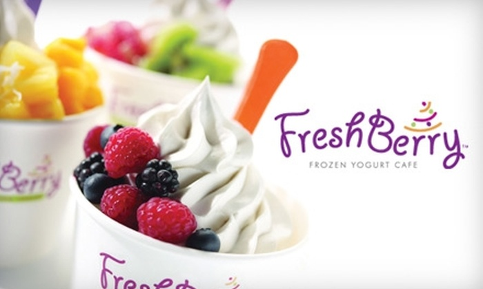 FreshBerry Frozen Yogurt Cafe - Mooresville: $3 for $6 Worth of Smoothies, Frozen Yogurt, and Fresh Pop Popsicles at FreshBerry Frozen Yogurt Cafe in Mooresville