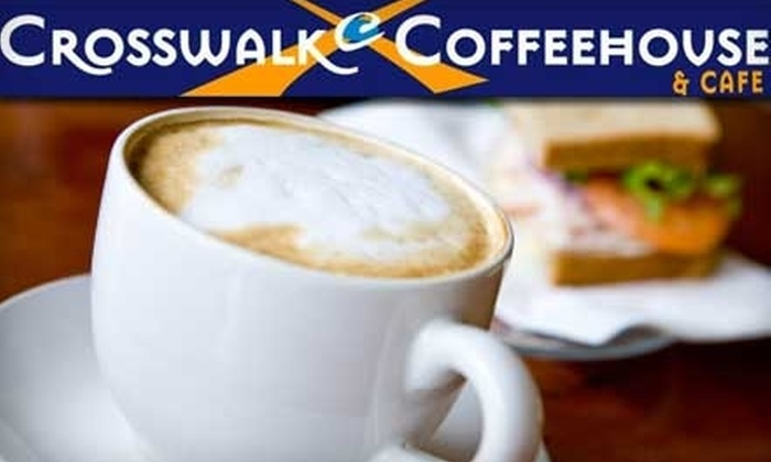 Crosswalk Coffeehouse & Cafe - New Braunfels: $5 for $10 Worth of Café Fare and Drinks at Crosswalk Coffeehouse & Café in New Braunfels