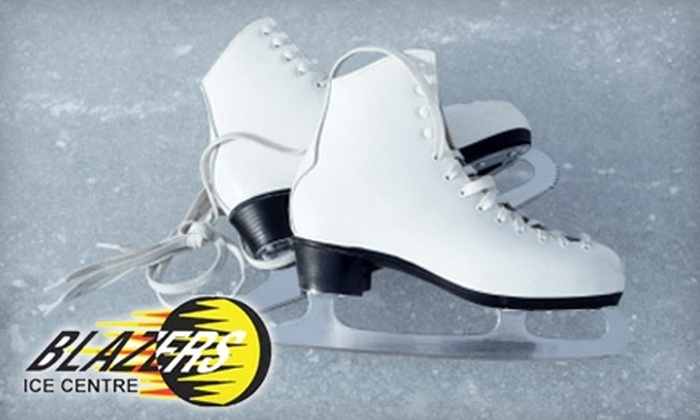 Blazers Ice Centre - Oklahoma City: $12 for Two Public Skate Passes, Two Skate Rentals, and Two Soft Drinks at Blazers Ice Centre (Up to a $26 Value)