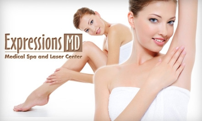 Expressions MD - South Rose Park: $150 for Three Laser Hair-Removal Treatments at Expressions MD