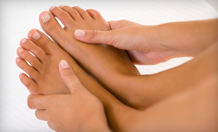Basic Manicure and Pedicure (a $60 value) - Beauty and the Bull Medspa in Durham