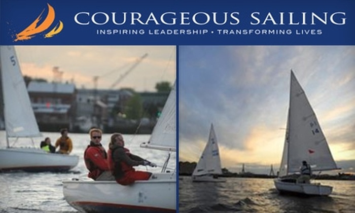 Courageous Sailing Center - Charlestown: $95 for a Two-Hour Private Sailing Lesson or Two-Hour Leisure Cruise for Three People at Courageous Sailing ($190 Value)