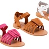 Rugged Bear Toddler Girls' Strappy Sandals