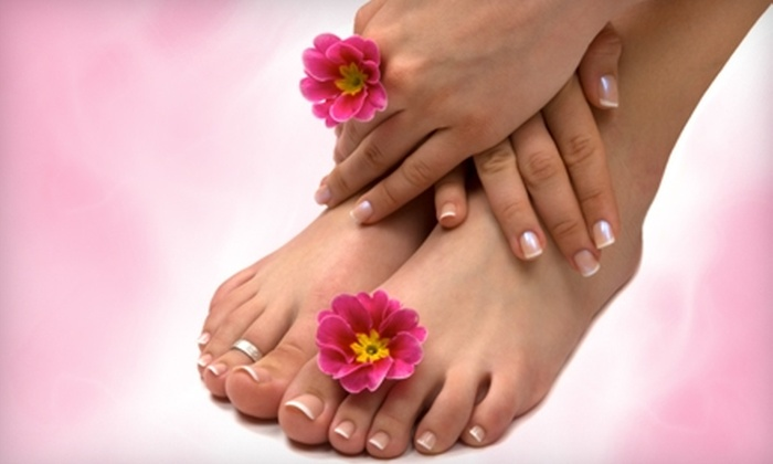 Vie Fitness & Spa - Ann Arbor: $60 for a Shellac Manicure and Hot-Lava Pedicure at Vie Fitness & Spa ($125 Value)