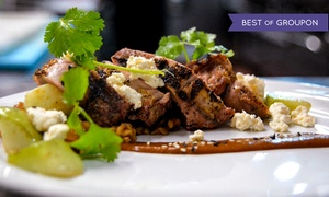Bijou Restaurant & Bar: Three-Course California Cuisine Dinner with Champagne for Two or Four at Bijou Restaurant & Bar (Up to 59% Off)