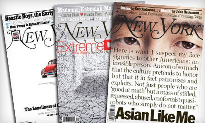 """""""New York"""" - Multiple Locations: One- or Two-Year Subscription to """"New York"""" Magazine (Up to 53% Off)"""
