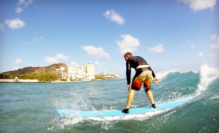 Beginner-Level Surfing Lesson with 3-Day Long-Board Rental for 1 Person (a $164 value) - Kai Sallas' Pro Surf School Hawaii in Honolulu